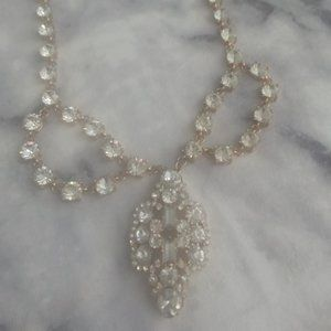 Glamour Evning Gold Necklace